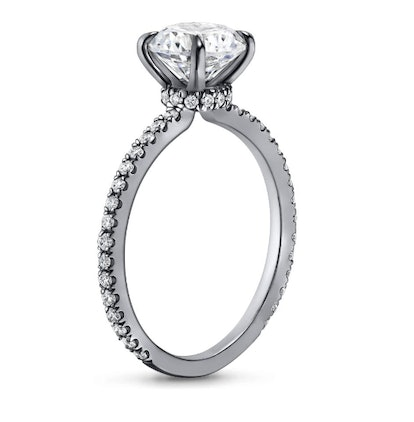 18K White Gold Black Rhodium Demi Diamond Ring (1/3 ct. tw.)