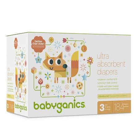 Babyganics Ultra Absorbent Diapers, 184 ct