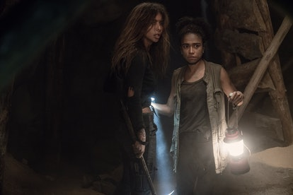 Nadia Hilker as Magna and Lauren Ridloff as Connie in The Walking Dead