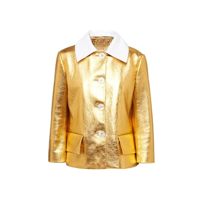 Laminated Nappa Leather Jacket