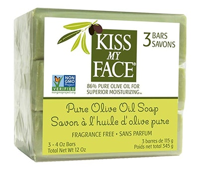 Kiss My Face Naked Pure Olive Oil Moisturizing Bar (3 Count)