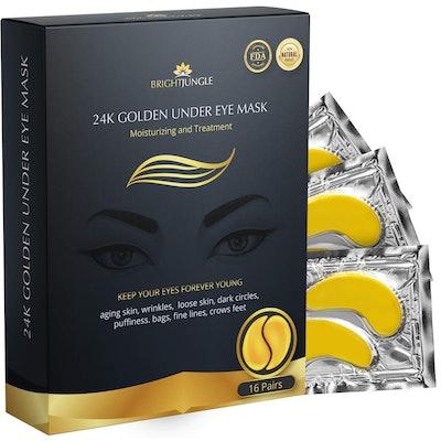 BrightJungle Collagen Under Eye Masks (16 Pairs)