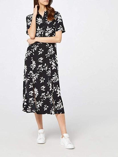 find. Midi Shirt Dress With Slit