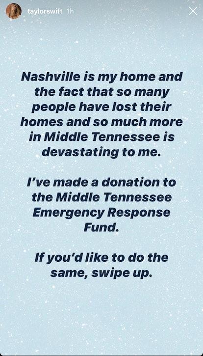 Taylor Swift Nashville Flood donation