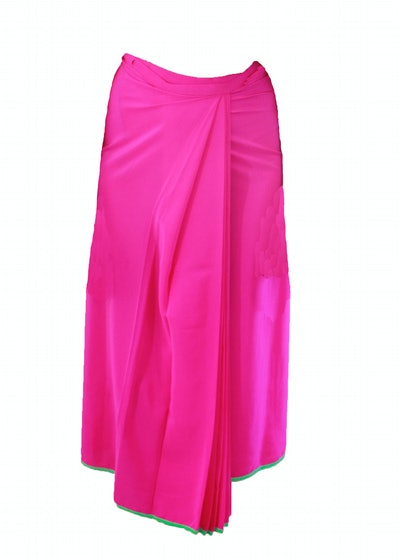 Sari Wrap Skirt — Pitaya