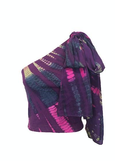 Divya Knit Blouse — Purple Tie Dye