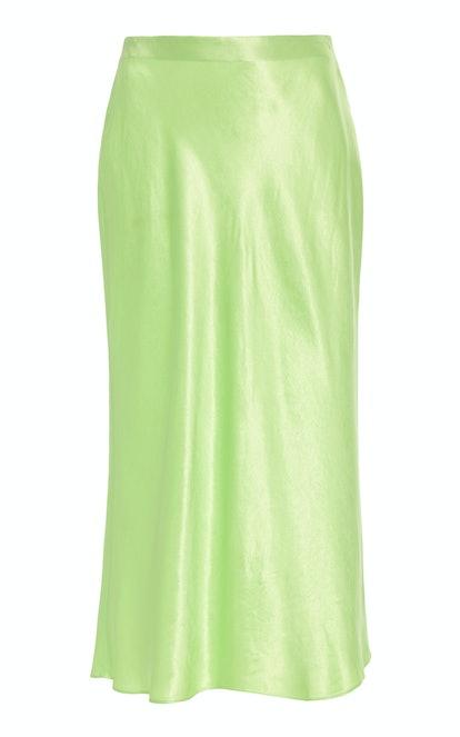 High-Rise Satin Slip Skirt