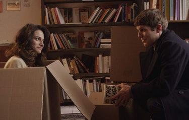 Jake Lacy and Jenny Slate in Obvious Child