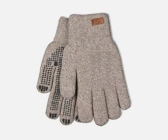Lined knit full-finger gloves