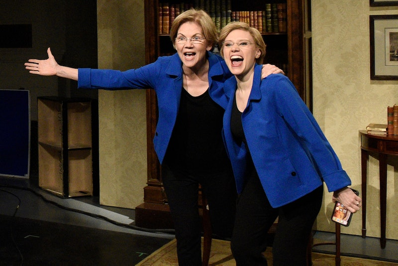 Elizabeth Warren's TikTok Challenge With Kate McKinnon Flips The Switch