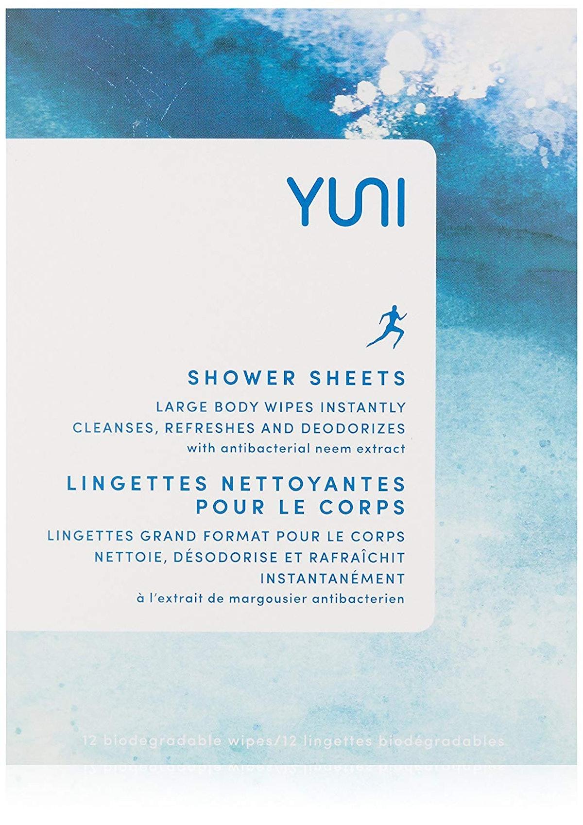 YUNI Shower Sheets (12-Pack)