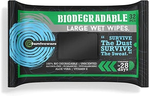 Surviveware Biodegradable Wet Wipes (32 Count)