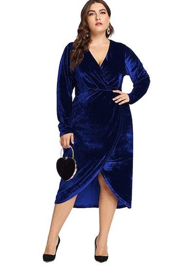 ESPRLIA Plus Size Velvet Dresses