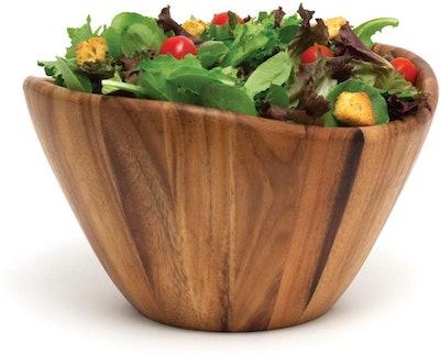 Lipper International Acacia Wave Serving Bowl