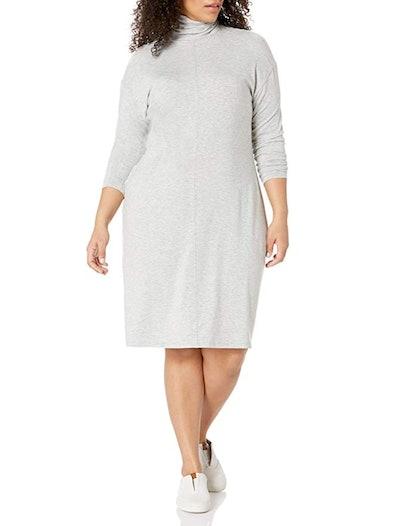 Daily Ritual Plus Size Long-Sleeve Turtleneck Dress