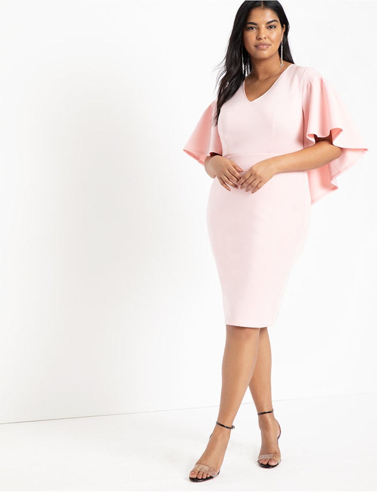 Eloquii Ruffle Cape Dress