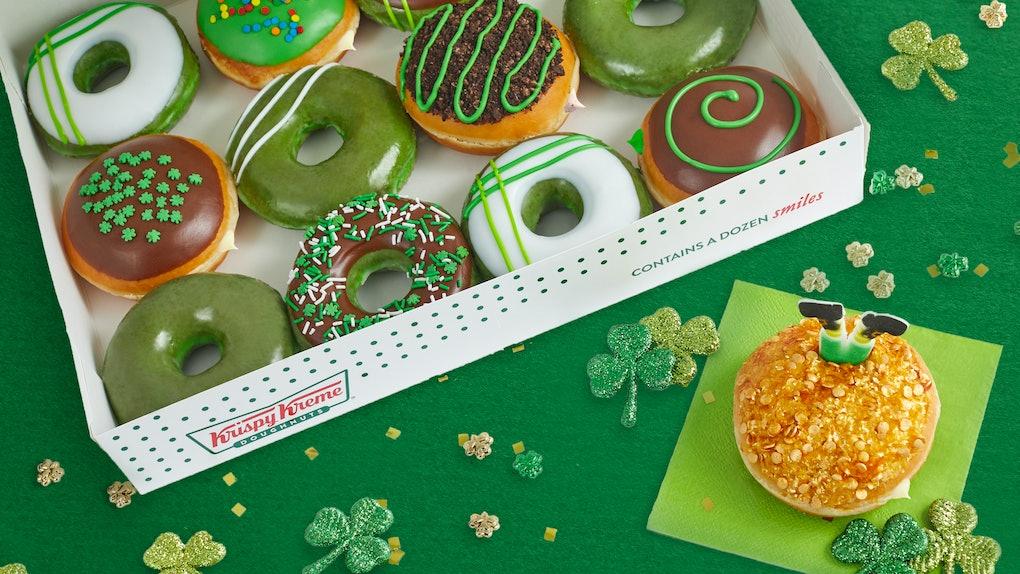Krispy Kreme's St. Patrick's Day Doughnuts include the new Leprechaun Trap Doughnut.