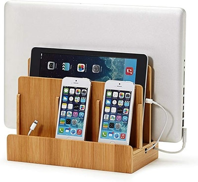 Great Useful Stuff Eco Bamboo Multi-Device Charging Station