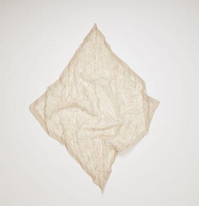 Crinkled Cotton-Blend Bandana Taupe Grey
