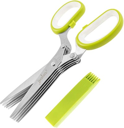 Jenaluca Herb Scissors Herb Scissors with 5 Blades