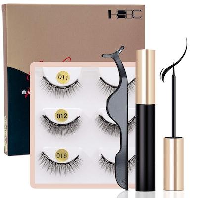 HSBCC Magnetic Eyeliner and Lashes Kit