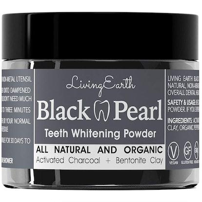 One Living Earth Black Pearl Teeth Whitening Powder