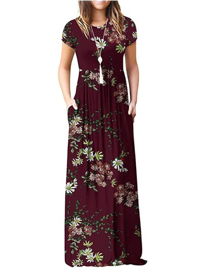 VIISHOW Short Sleeve Maxi Dresses with Pockets