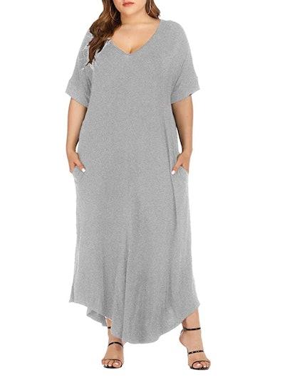 Gxlu Plus Size Maxi Dress