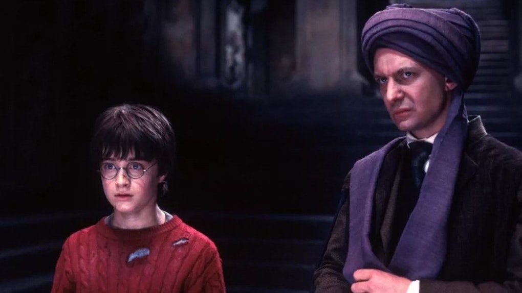 Daniel Radcliffe explained how Professor Quirrell slept with Voldemort on his head in 'Harry Potter.'