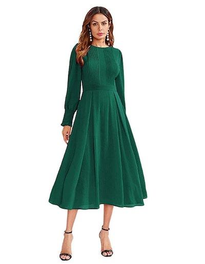 Milumia Pleated Fit & Flare Dress