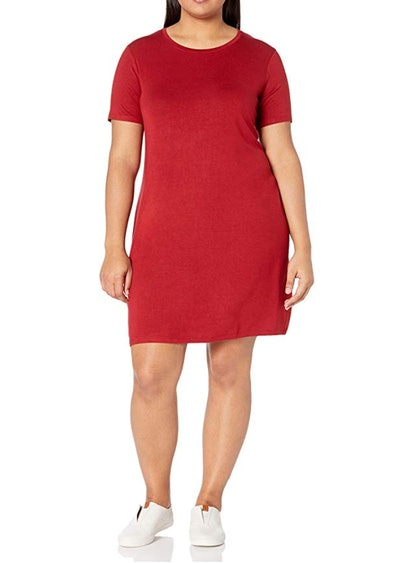 Daily Ritual Plus Size Jersey Short-Sleeve Scoop Dress