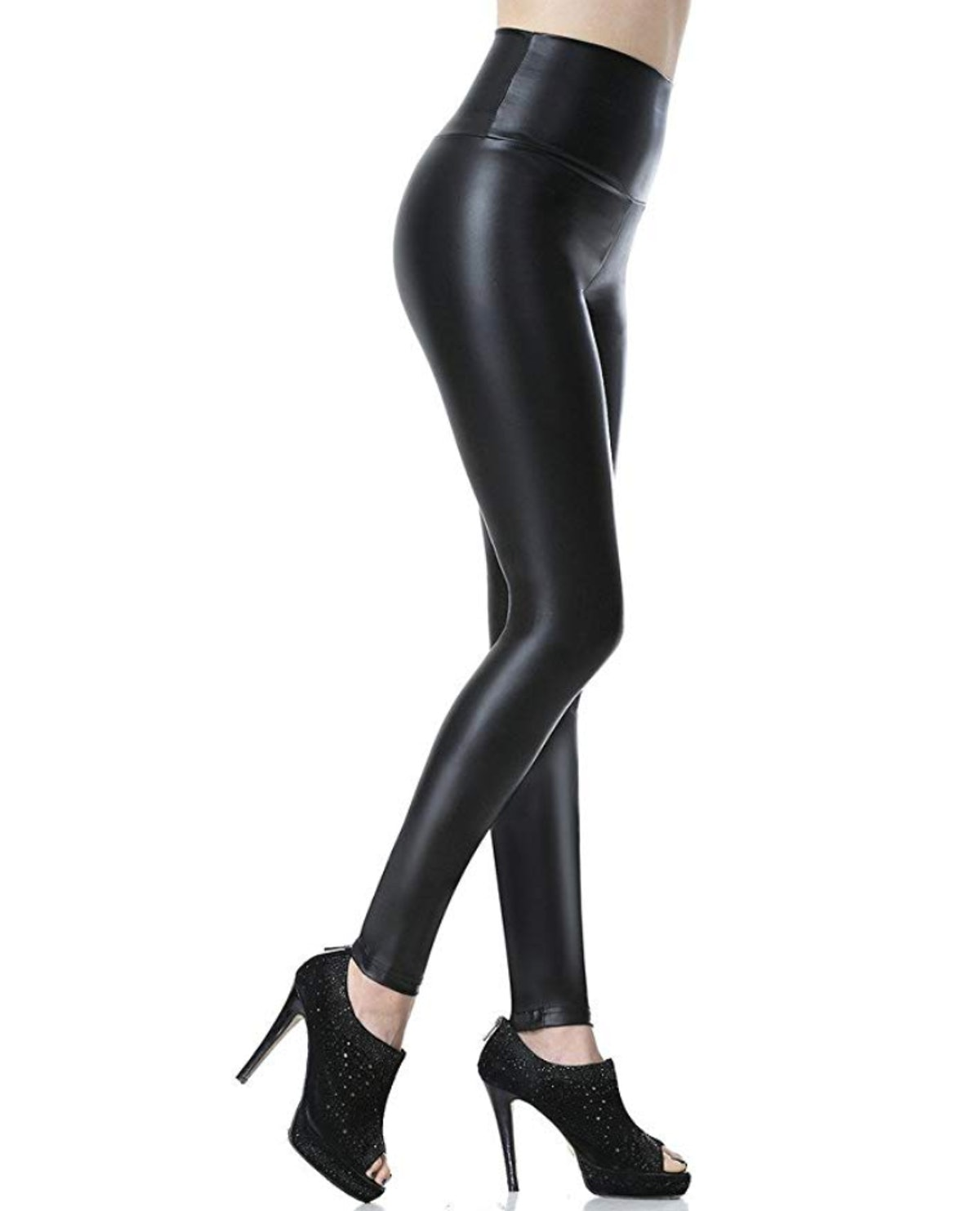 Everbellus Faux Leather High Waisted Leggings