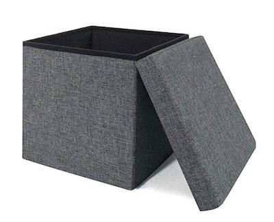 Seville Classics Foldable Storage Footrest