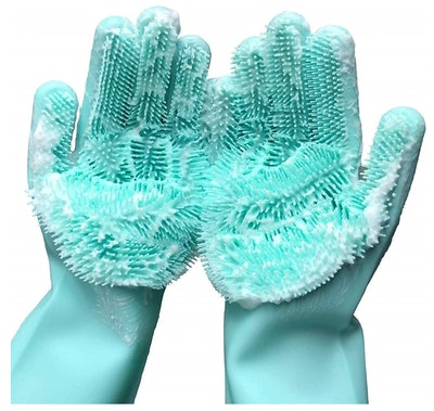 Magic Dishwashing Silicone Brush Scrubber Gloves