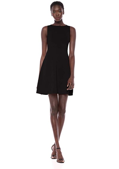 Lark & Ro Ballet Neck Fit and Flare Sweater Dress