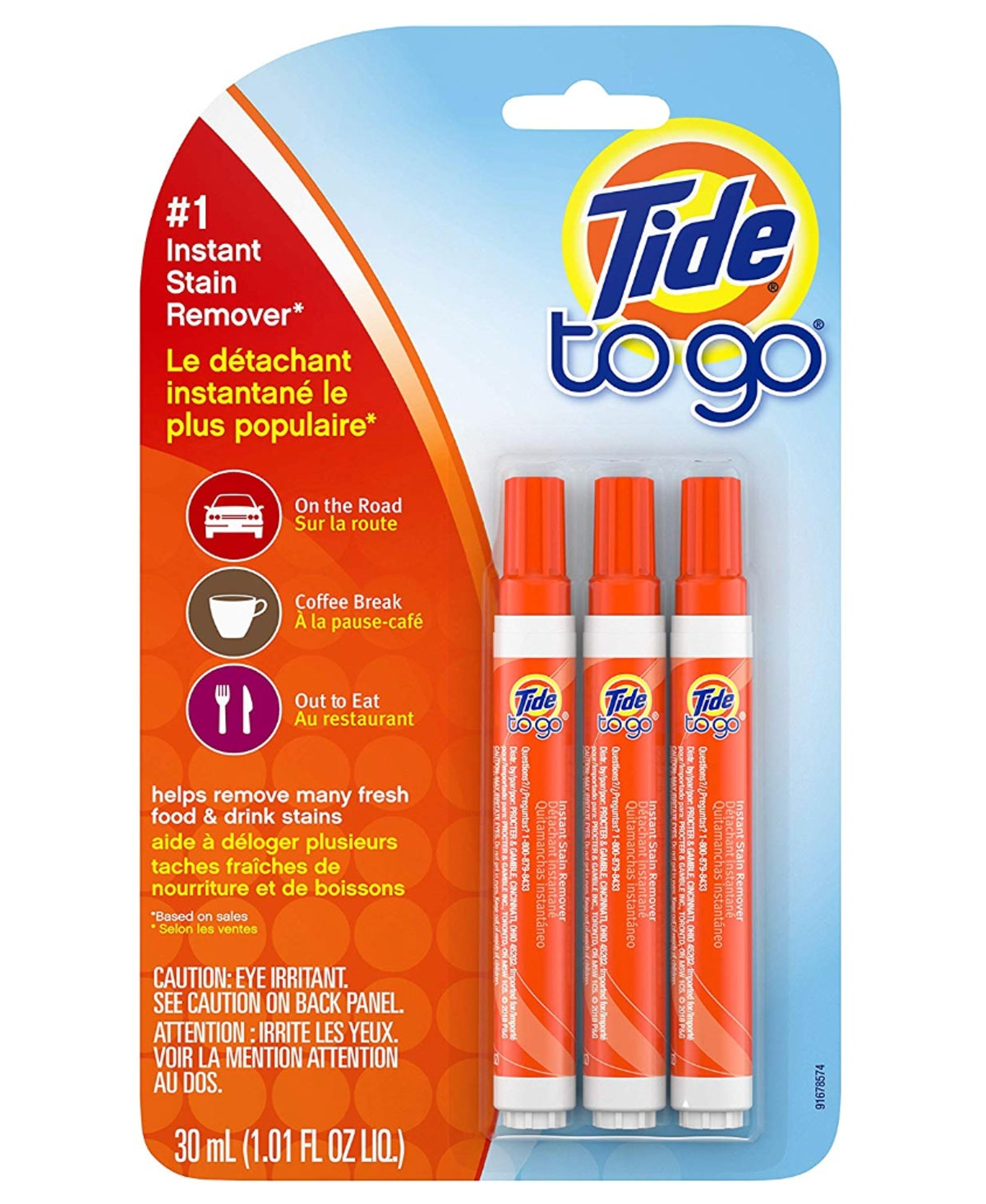 Tide To Go Instant Stain Remover Liquid Pen (3-Pack)