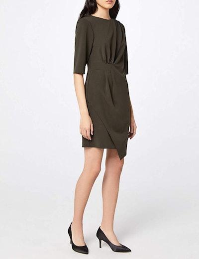 find. Asymmetric Drape Hem Shift Dress