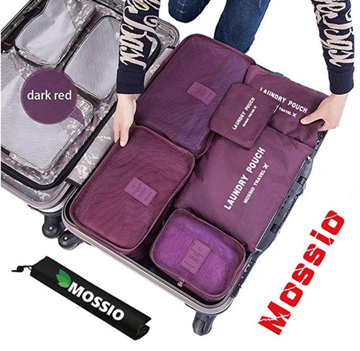 Mossio Packing Cubes with Shoe Bag (7-Pieces)