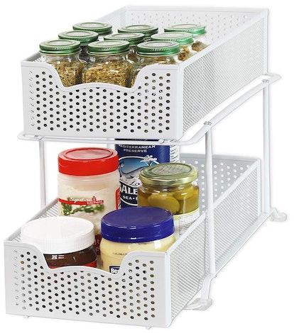 Simple Houseware Sliding Cabinet Basket Organizer