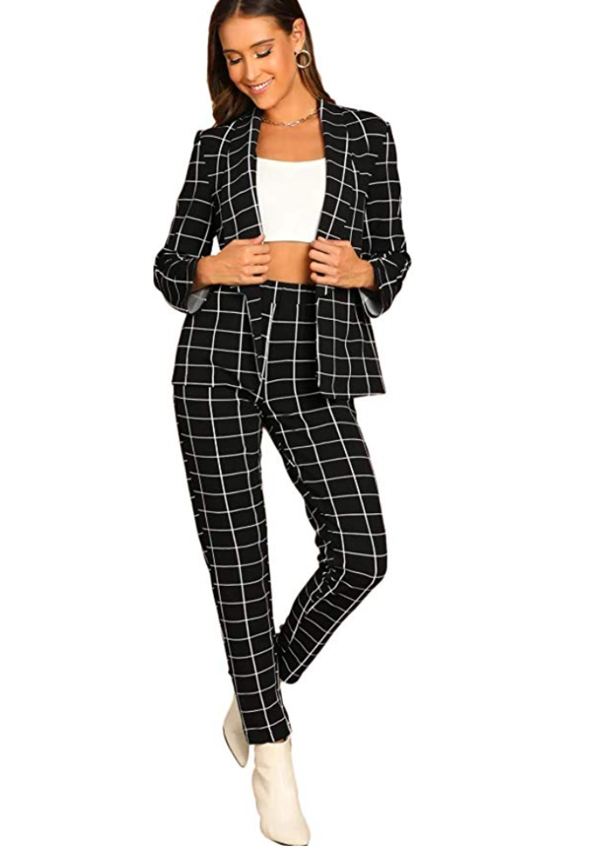 SheIn Women's Two-Piece Blazer And Pant Set Suit