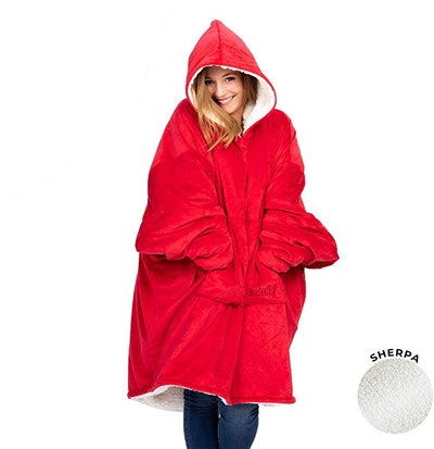 THE COMFY Original Oversized Wearable Sherpa Blanket