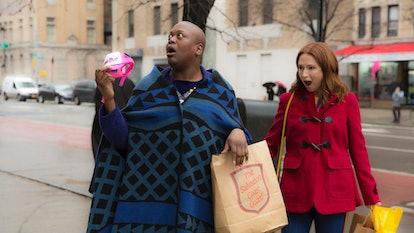"Netflix's ""Unbreakable Kimmy Schmidt"" stars Ellie Kemper and Tituss Burgess"
