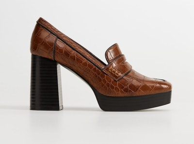 Croc Effect Platform Moccasins