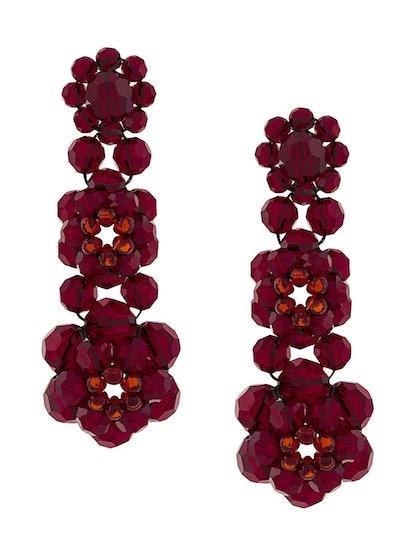 Crystal Beaded Drop Earrings