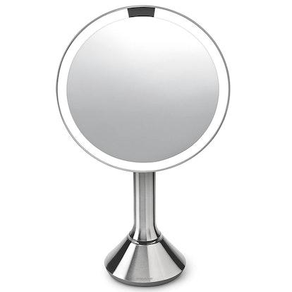 "Simplehuman 8"" Round Sensor Lighted Mirror"