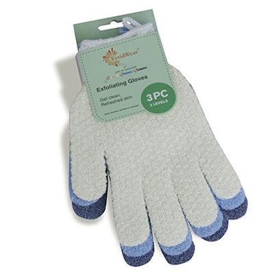 EvridWear Hydro Body Scrub Gloves (3-Pack)