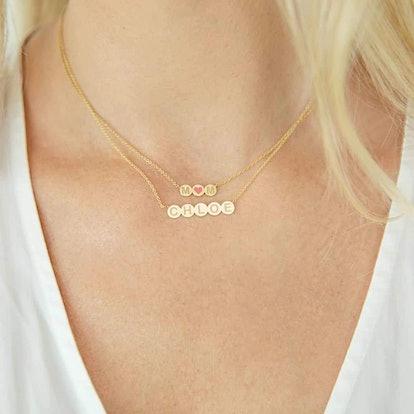Bubble 5 Round Engravable Necklace