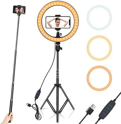 AIXPI Ring Light With Tripod (10 Inches)