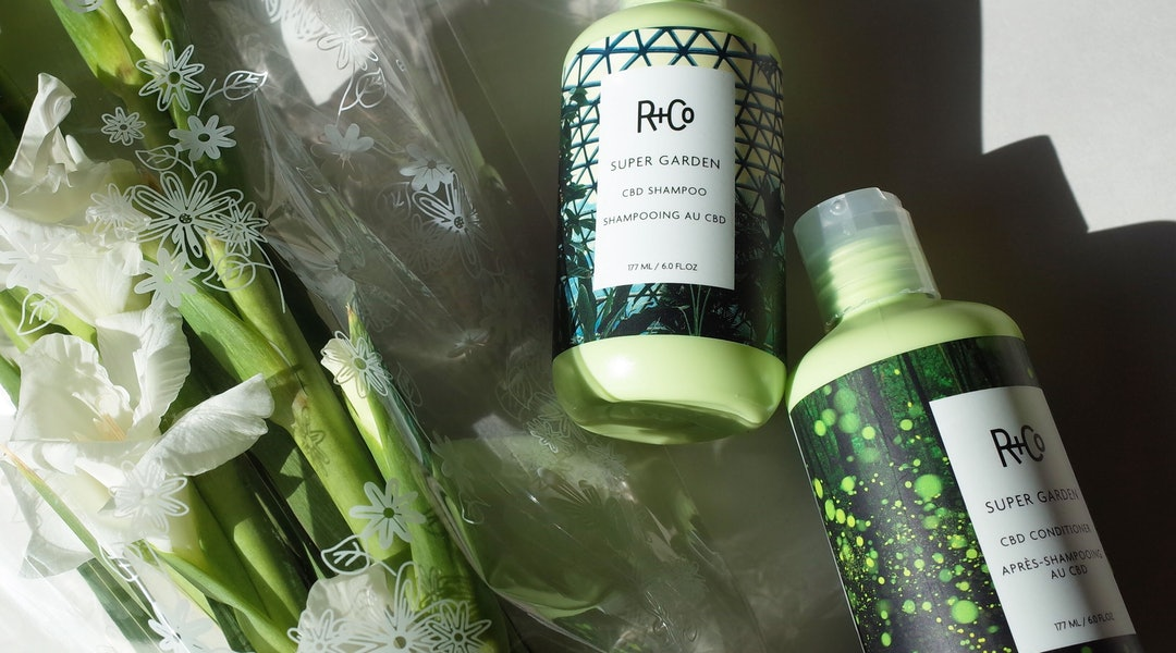 The new SUPER GARDEN CBD Shampoo and Conditioner from R+Co focus on regenerating hair and soothing scalps.