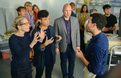 Mara Stephens, Rami Margron, Phillip Taratula, and Dickie Hearts in 'High Maintenance' Season 4